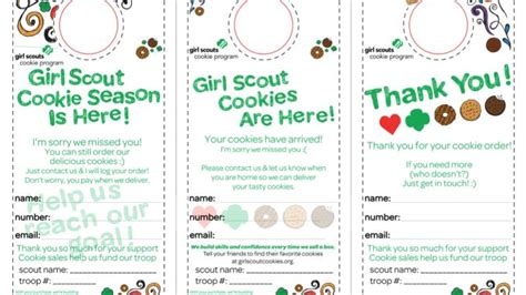 Scout Cookie Thank You Card Template by 1000 Images About Scouts On Scout