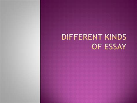 kinds of essays and examples college application essay example