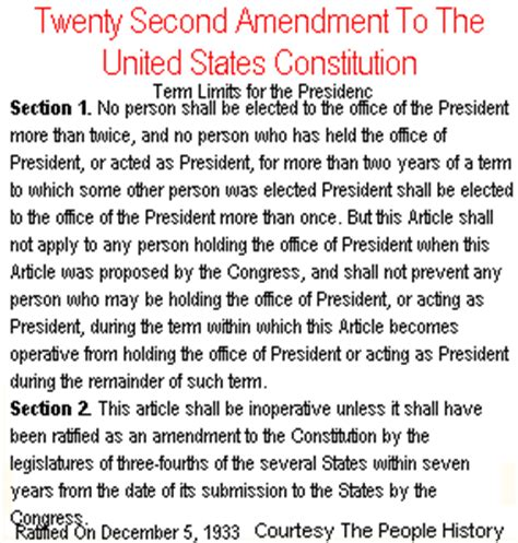 The President May Serve A Maximum Of Terms In Office by A Perspective On Our Constitution The Twenty Second Amendment