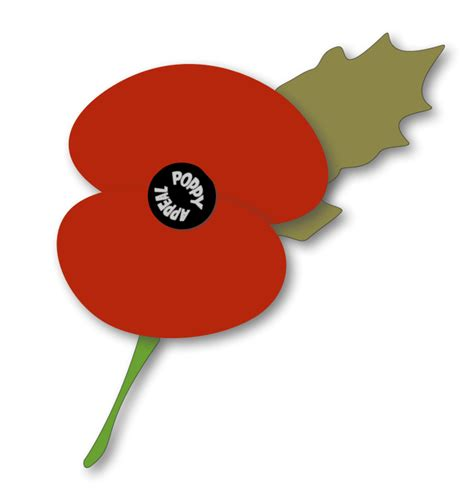 remembrance day poppy template clipart best