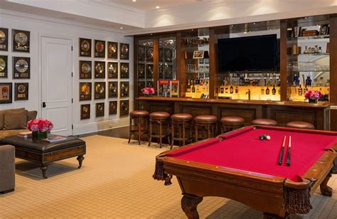 bar room pool table malibu house yolanda foster popsugar