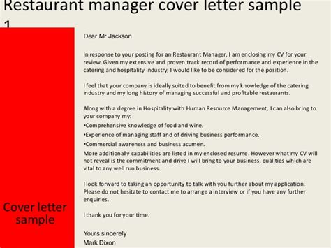 Restaurant Manager Cover Letter Template Page Not Found The Dress