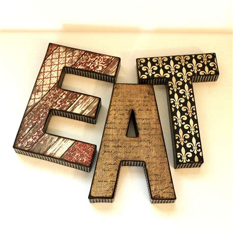 Decoupage Words - eat letters custom names words on luulla