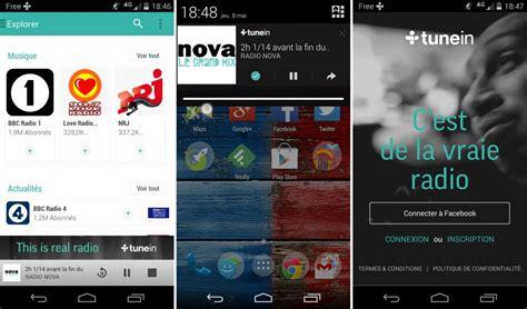 tunein radio android tunein radio 12 0 se mue en r 233 seau social musical sur android