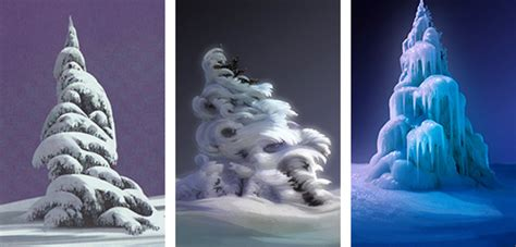 frozen after concept photo 2 of 2 snow tree disney trees nature animation concept