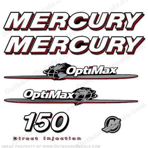 Decal Sticker Dtracker 150 Energy Outside The Color mercury 150hp quot optimax quot decals 2007 2012