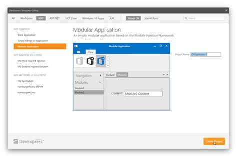 wpf ui templates template gallery wpf controls devexpress help