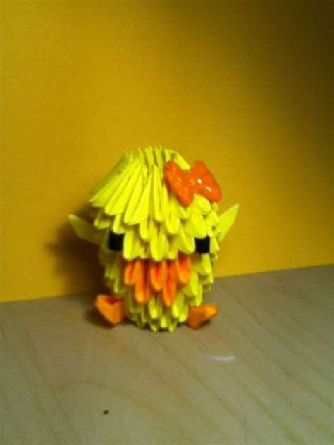 3d Origami Duck - 3d origami duck d by crazycake28 on deviantart