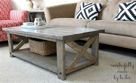 Diy Coffee Table Plans Wonderfully Made Finished Diy Coffee Table