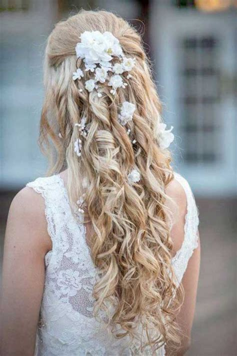 wedding hair with flowers 25 hair styles for brides hairstyles 2016 2017