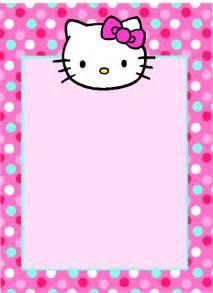 hello kitty blank invitations
