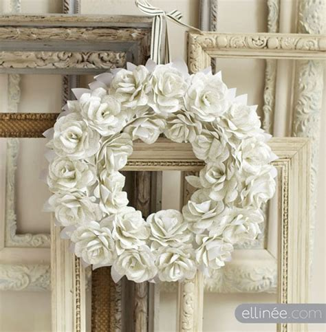 How To Make Paper Wreaths - 10 paper flower wreaths you can diy