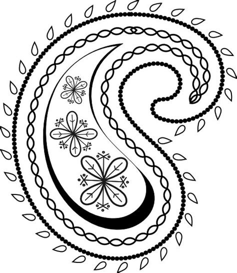 printable art designs design clipart paisley pencil and in color design