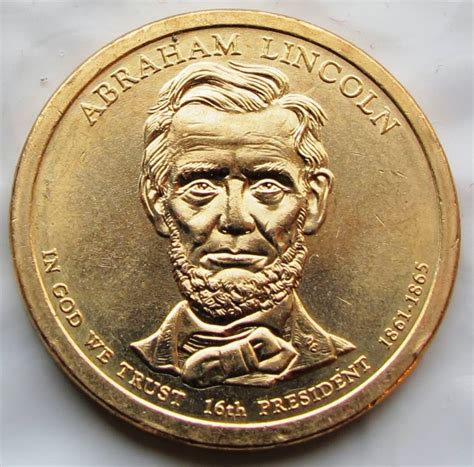 abraham lincoln gold coin coined for money