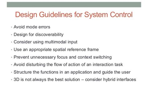 interaction design guidelines on critiquing based recommender systems comp 4010 lecture 4 3d user interfaces for vr