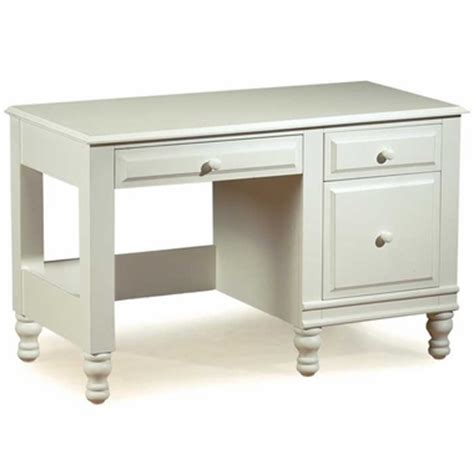 alligator monterey collection desk in distressed white