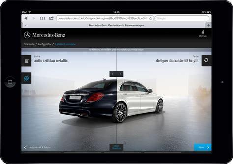 Bester Auto Konfigurator by Tablet Konfigurator Von Mercedes Mit Red Dot Award