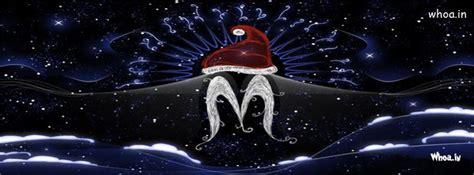 merry christmas dark  blue fb cover