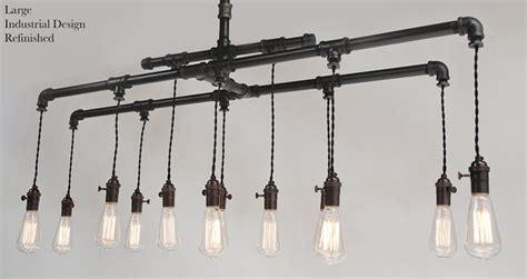 industrial chandeliers custom cloth cord metal industrial chandelier