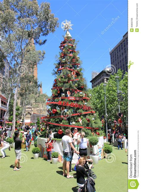 christmas tree melbourne editorial stock image image of