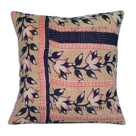Vintage Kantha Pillows by 40x40 Cm Multicolor Vintage Patchwork Kantha
