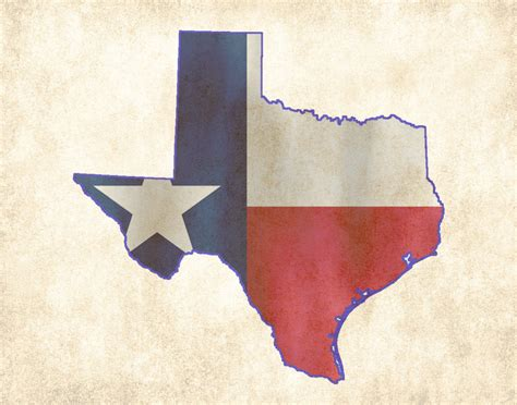 texas map flag texas state flag map poster print 16x20 8x10 by fabvintageposters