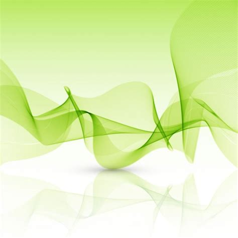green wallpaper vector free download abstract green background with wavy shapes vector free