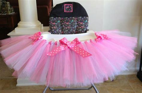 High Chair Tutu by High Chair Tutu Can Do Custom Colors Pink And White High