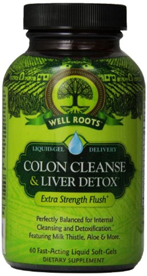 Best Vitamins For Liver Detox by Well Roots Colon Cleanse And Liver Detox Supplement 60