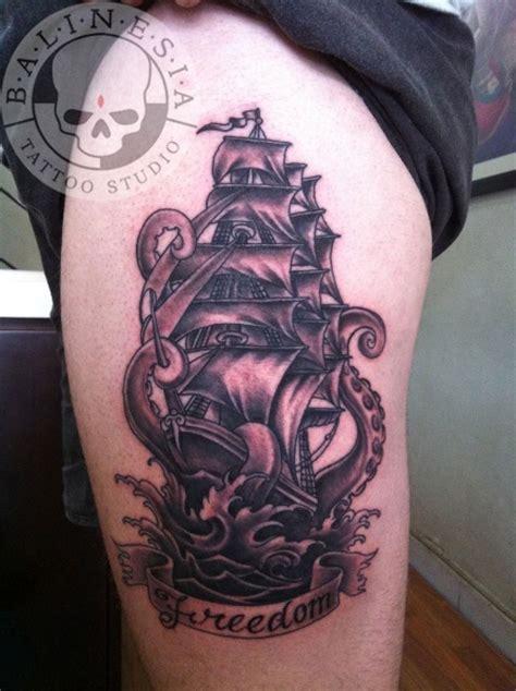 ship tattoo black and grey black and grey pirate tattoos ship tattoos pinterest