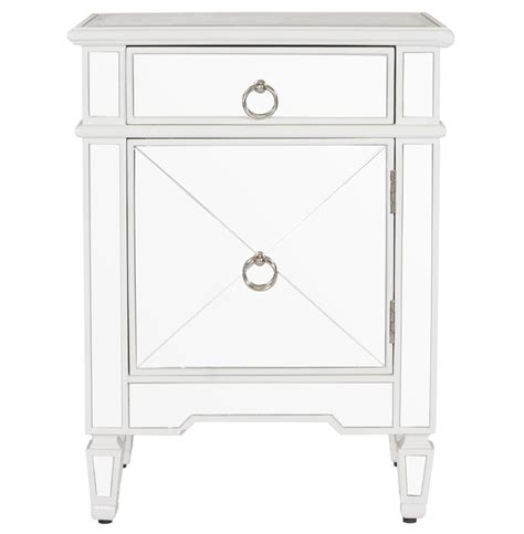 White Mirror Nightstand sloane regency white lacquer mirror nightstand kathy kuo home