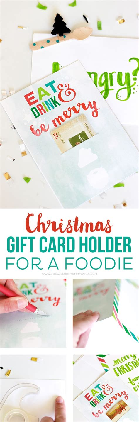Restaurant Gift Cards For Christmas - how to make a christmas gift card holder for a foodie printable crush