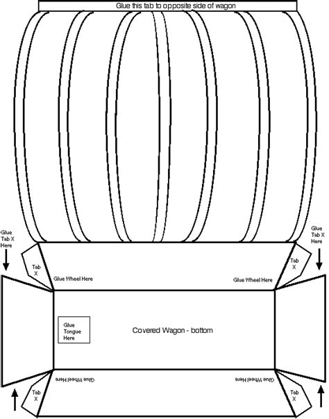 How To Make A Paper Wagon - covered wagon template scale it to fit a normal sized