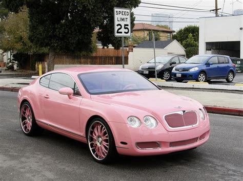 bentley car pink paris hilton drives a custom bentley paris hilton zimbio