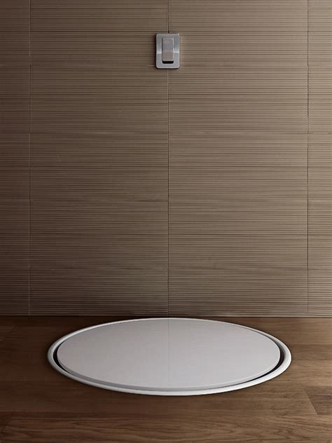 piatto doccia metacrilato piatto doccia circolare incassato in metacrilato geo tray