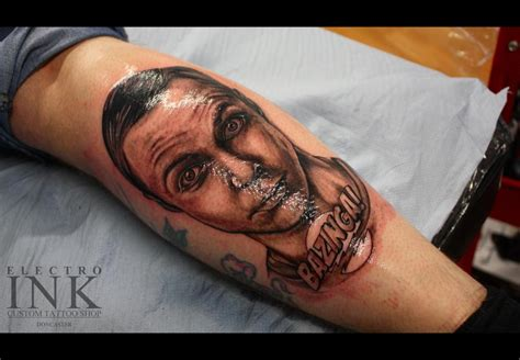 big bang tattoo the big theory sheldon cooper takes a