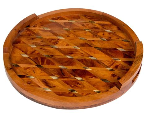 thuya wood moroccan thuya wood serving tray moroccan buzz