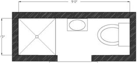 Narrow Bathroom Floor Plans by Small Bathroom Floor Plans
