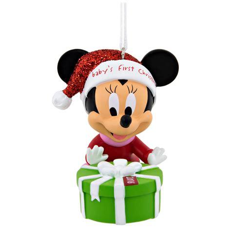 hallmark disney minnie mouse baby s 1st christmas ornament