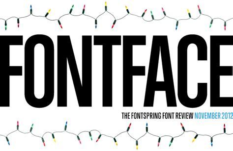 font newsletter design fontface newsletter november 2012