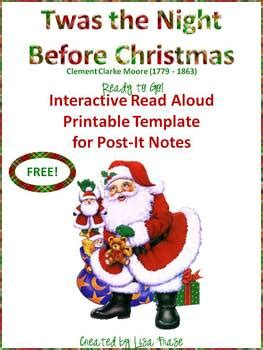 printable version of twas the night before christmas free twas the night before christmas interactive read