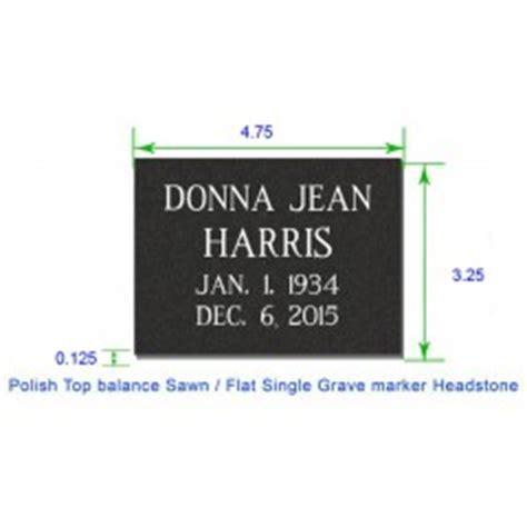Standard Grass Marker Grave Marker Template