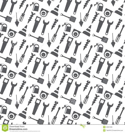 background pattern tool vector seamless pattern working tools background stock