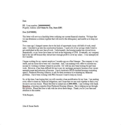 36 hardship letter templates free pdf exles creative