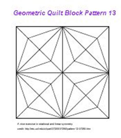 pattern block exercises simple geometric designs to draw geometric block pattern