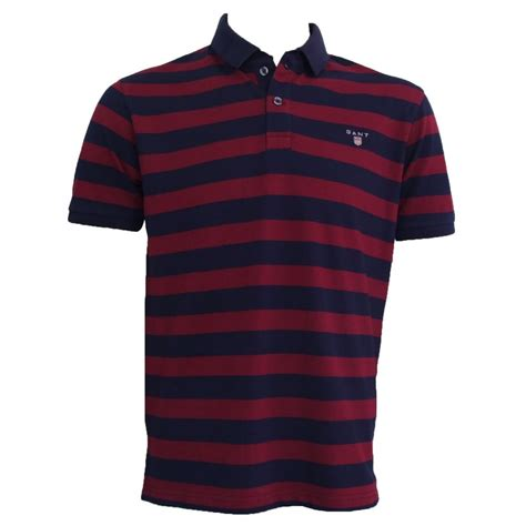 Poloshirt Stripe Navy gant polo shirt bar stripe navy burgundy