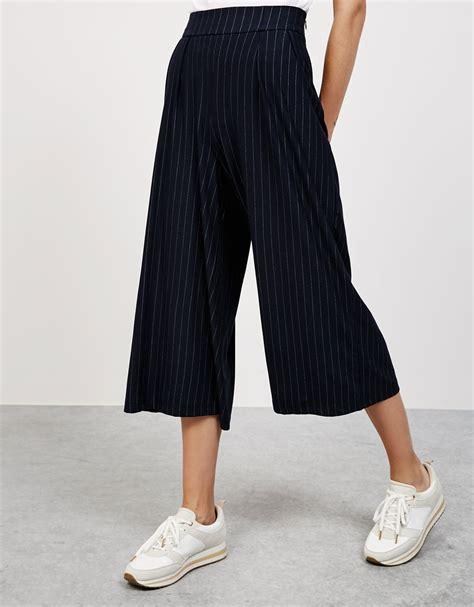Du Pleated Cullot flowy pleated culotte trousers trousers bershka israel