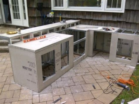 prefabricated kitchen island outdoor kitchen and bbq island kits oxbox for prefab