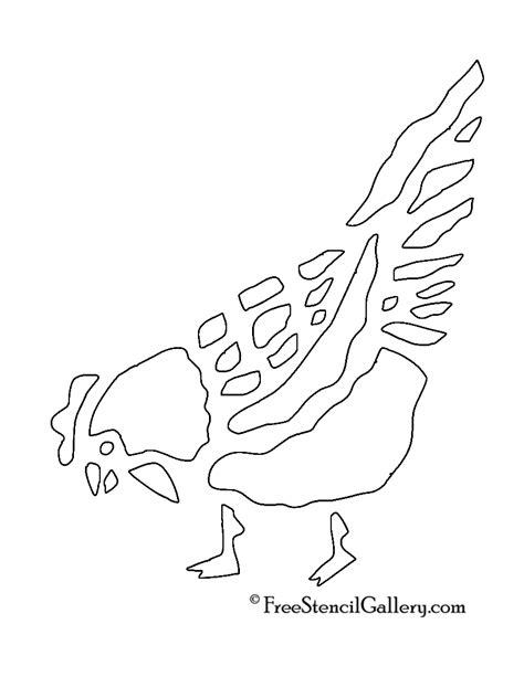 chicken stencil 2 free stencil gallery