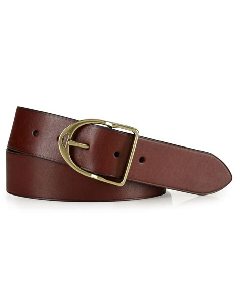 polo ralph wilton leather equestrian d ring belt in